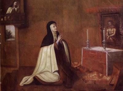 Cuzco School, The Second Conversion of Saint Teresa, Convento del Carmen, San Jose, Santiago de Chile, 1694 (Wiki Commons)