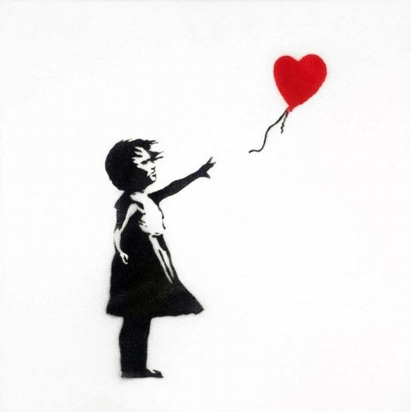 Banksy 'Girl with Red Balloon' (Wiki Commons)