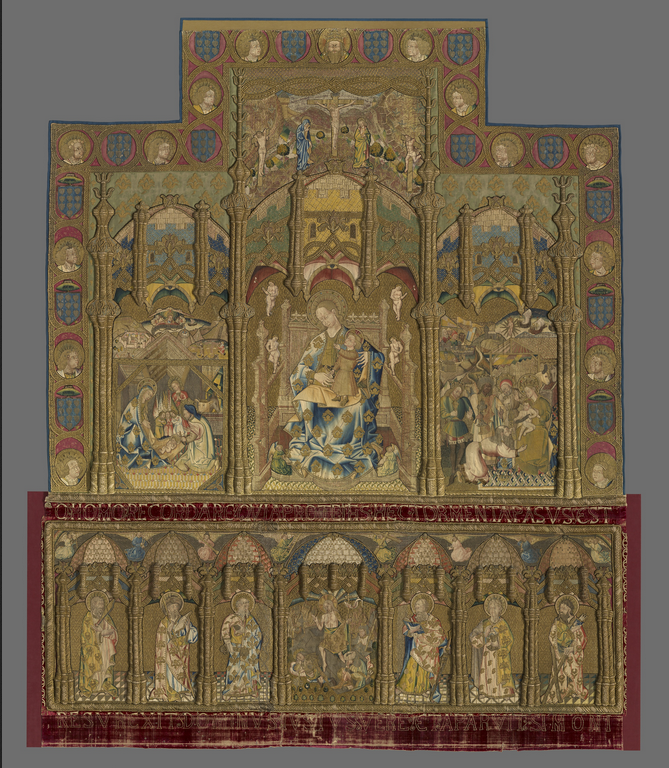 Retable (Depicting Madonna and Child, Nativity, and Adoration of the Magi; Altar Frontal Depicting the Resurrection and Six Apostles) c. 1468, Spain, El Burgo de Osma, The Art Institute of Chicago