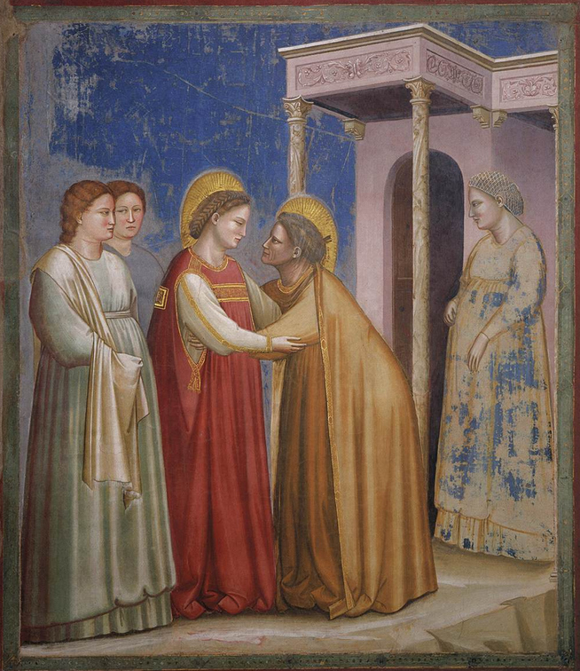 The Visitation, Giotto, 1306