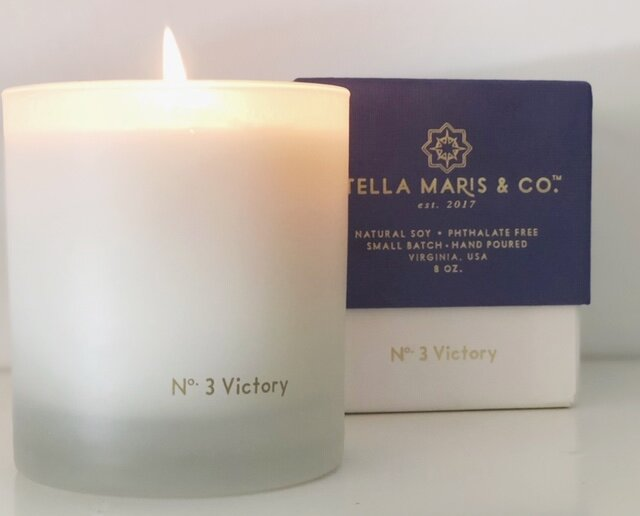 No. 3 Victory candles 20% off through Wednesday in honor of Our Lady of the Rosary, first known as Our Lady of Victory.  (Click image for link)