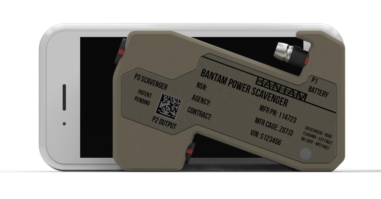 BANTAM Power Scavenger Against an iPhone 6