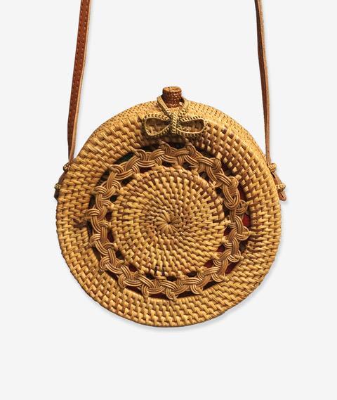 1. Luna Meno Round Rattan Bag - Original Bali Bag - £64 (Image Wanderlust Wares)