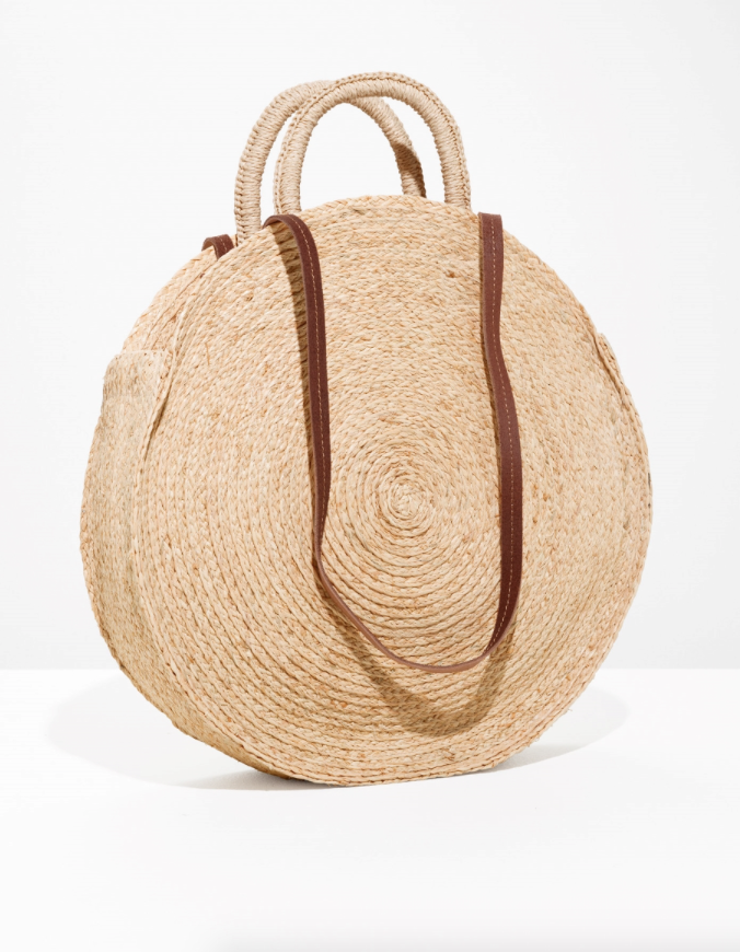 2. Straw Circle Bag - Big enough for everyday - £49 (Image & Other Stories)