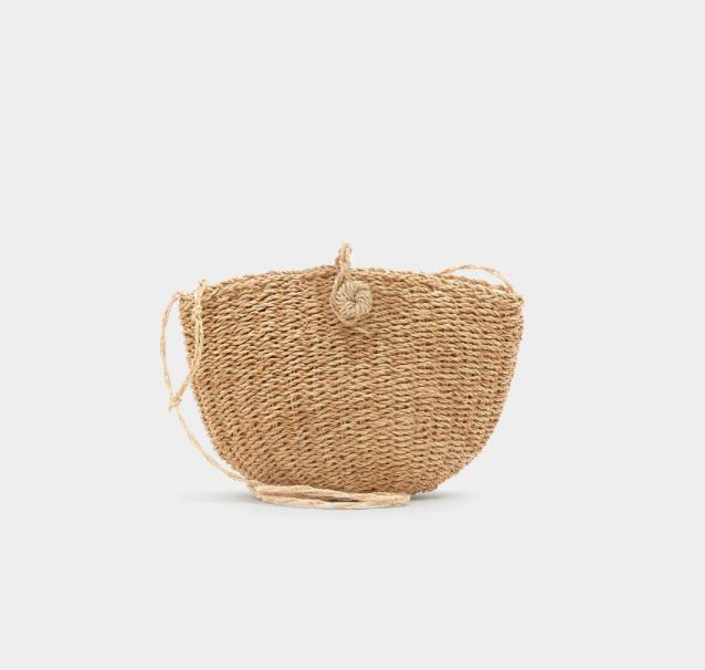 11.Mini Straw Crossbody bag - Best value - £17.99 (Image Pull & Bear)