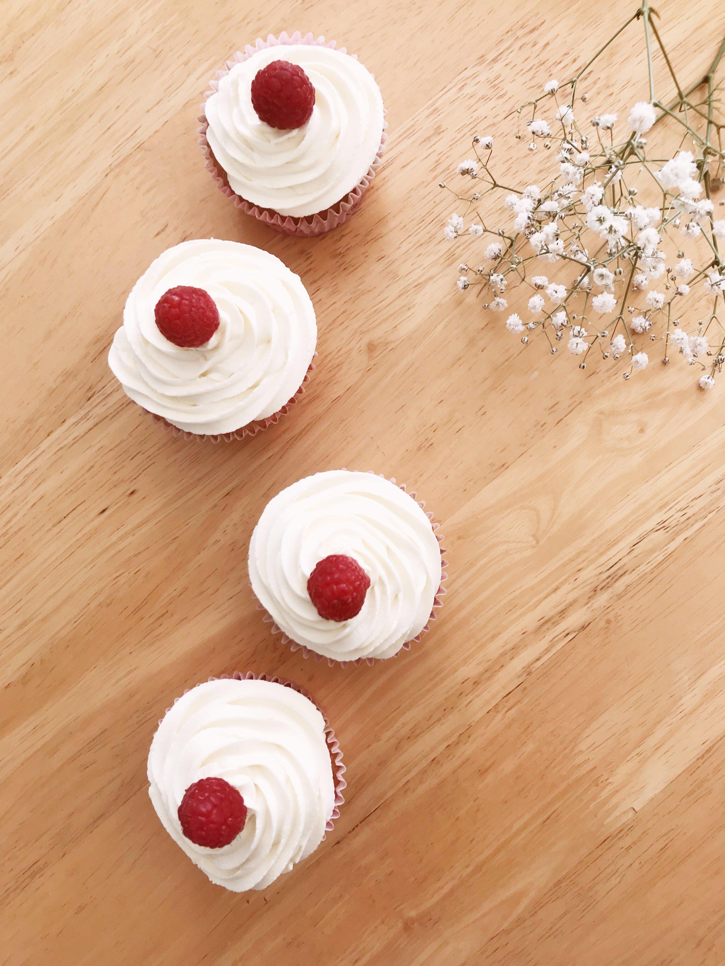 Raspberry, Vanilla & White Chocolate Cupcakes Recipe.JPG