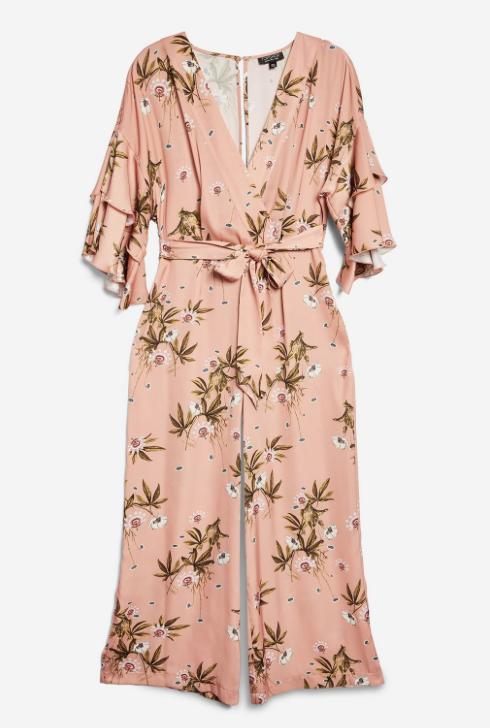 3. Floral Print Frill Jumpsuit - £59
