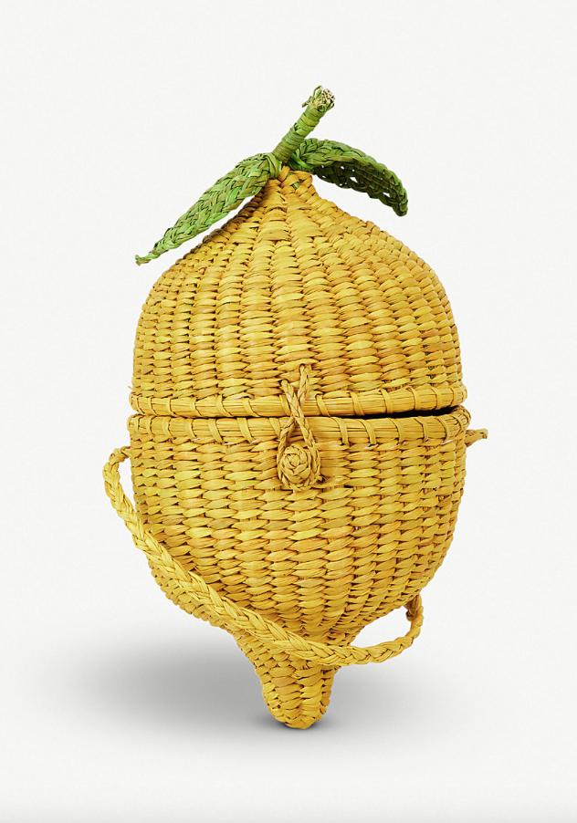 8. Pitusa Lemon Straw Cross Body Bag - £105