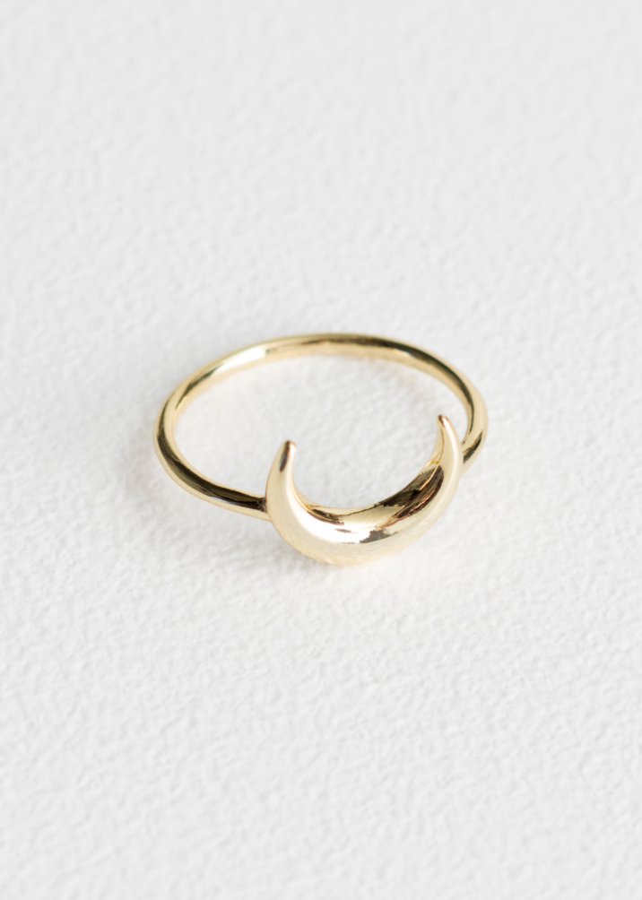 - Gold Crescent Charm Ring & Other Stories
