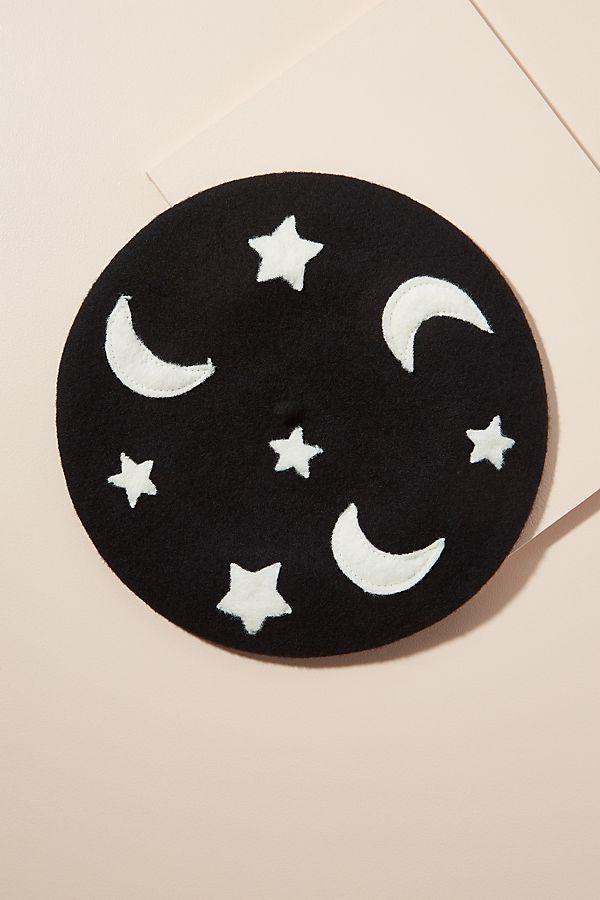 - Moon & Stars Beret Anthropologie