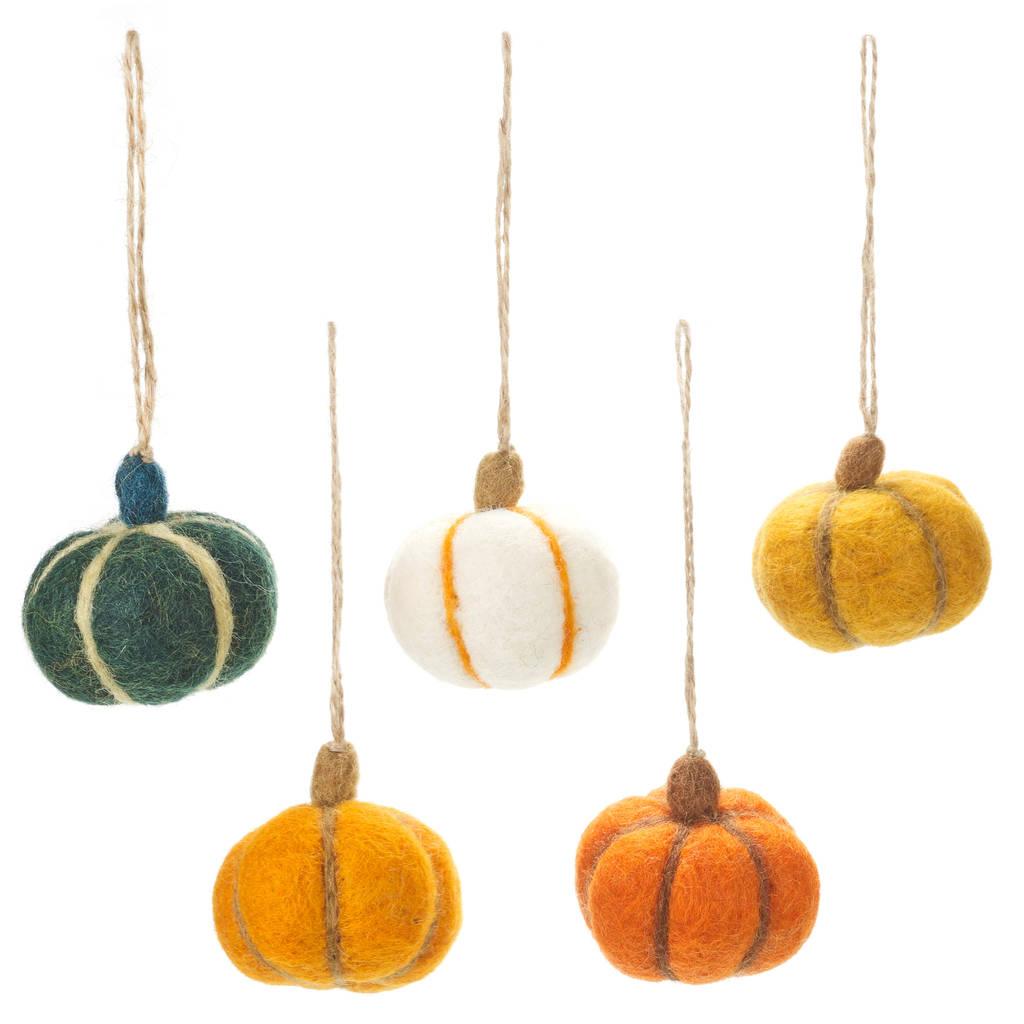 - Handmade Felt Hanging Pumpkins Felt So Good