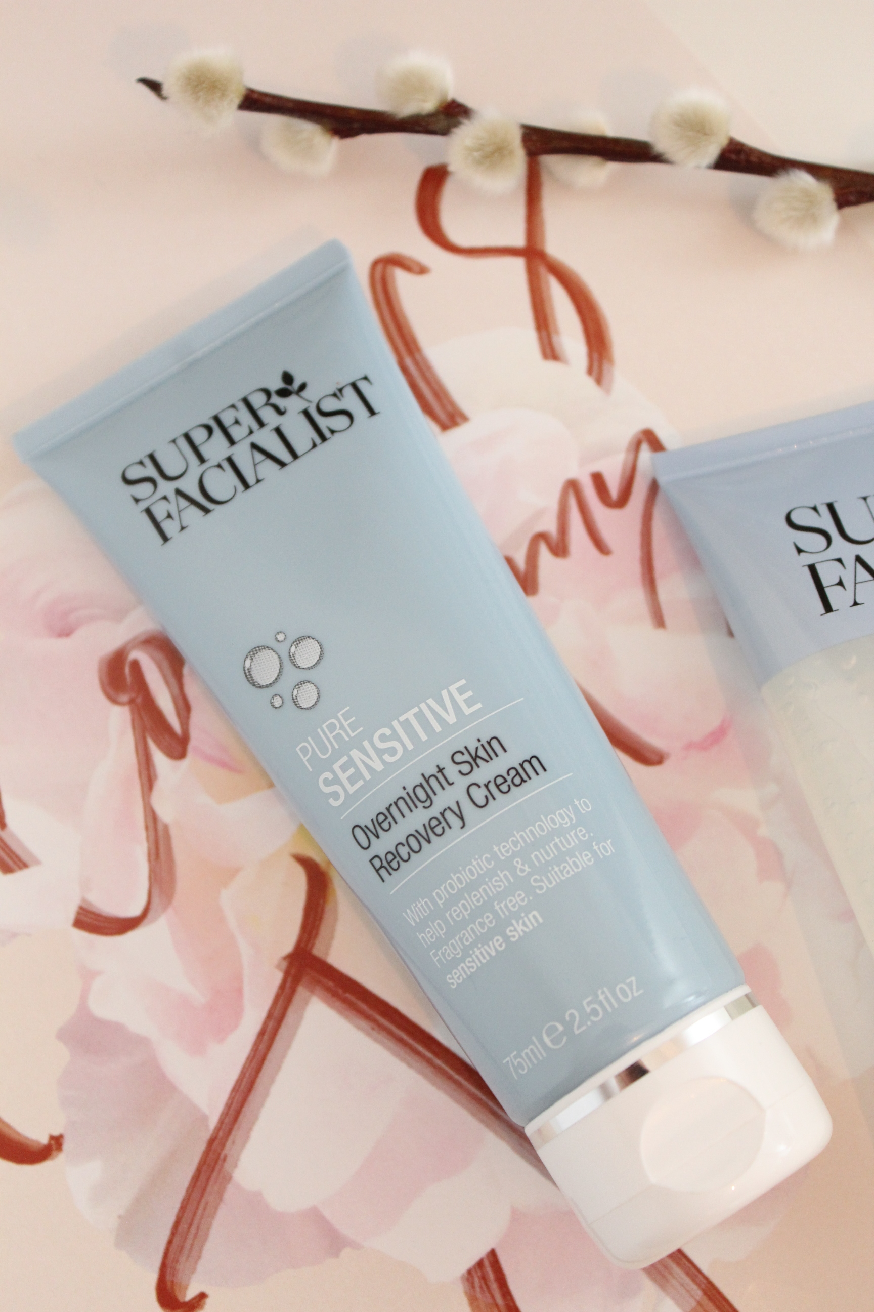 Superfacialist Pure Sensitive Overnight Skin Recovery Cream, Wondering English Rose Blog