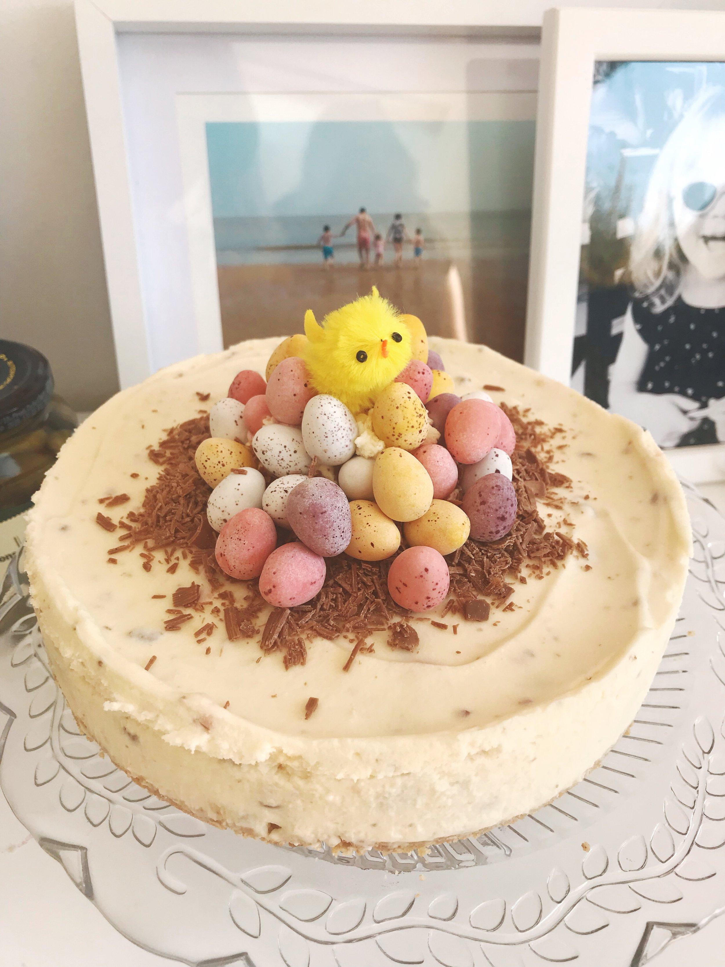Vanilla Cadbury Mini Egg Cheesecake Recipe for Easter