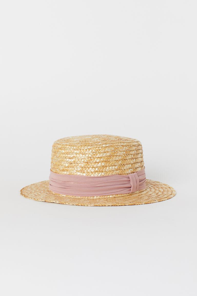 - Light Beige Straw Hat | H&M