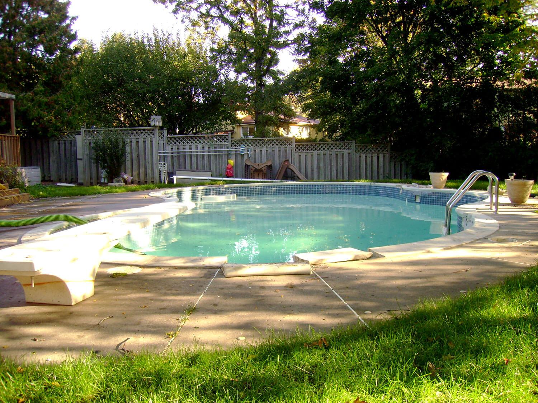 Concrete Pool - Before Photo