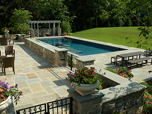 Swimming Pool in a Sloped Backyard