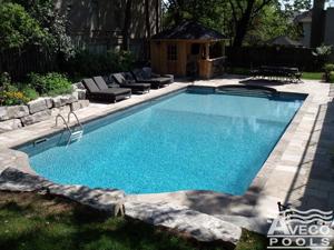 Vinyl Swimming Pool in Backyard
