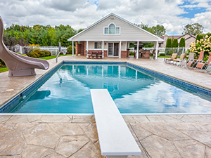 Swimming Pool with Pool House