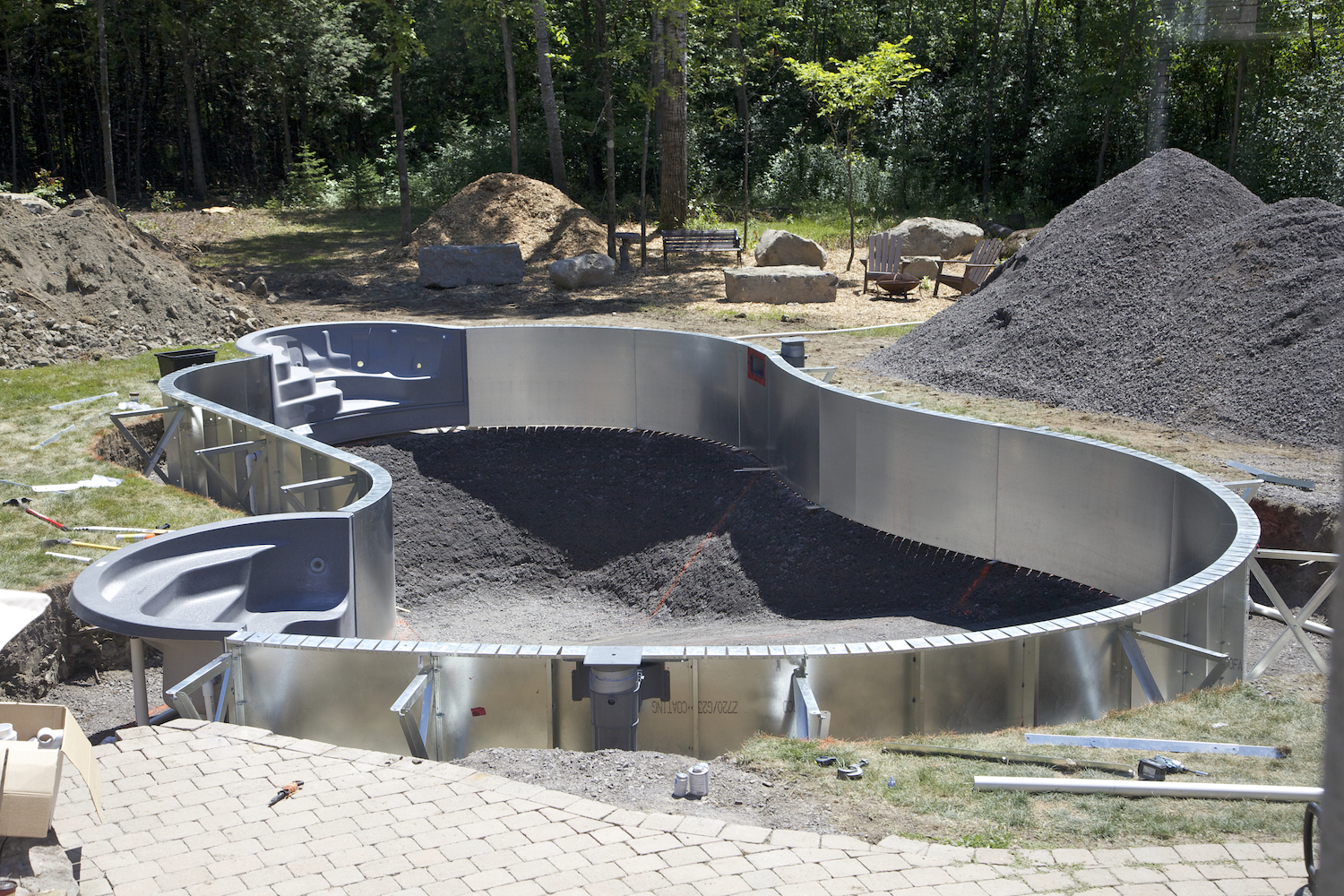 installation of  inground vinly pools