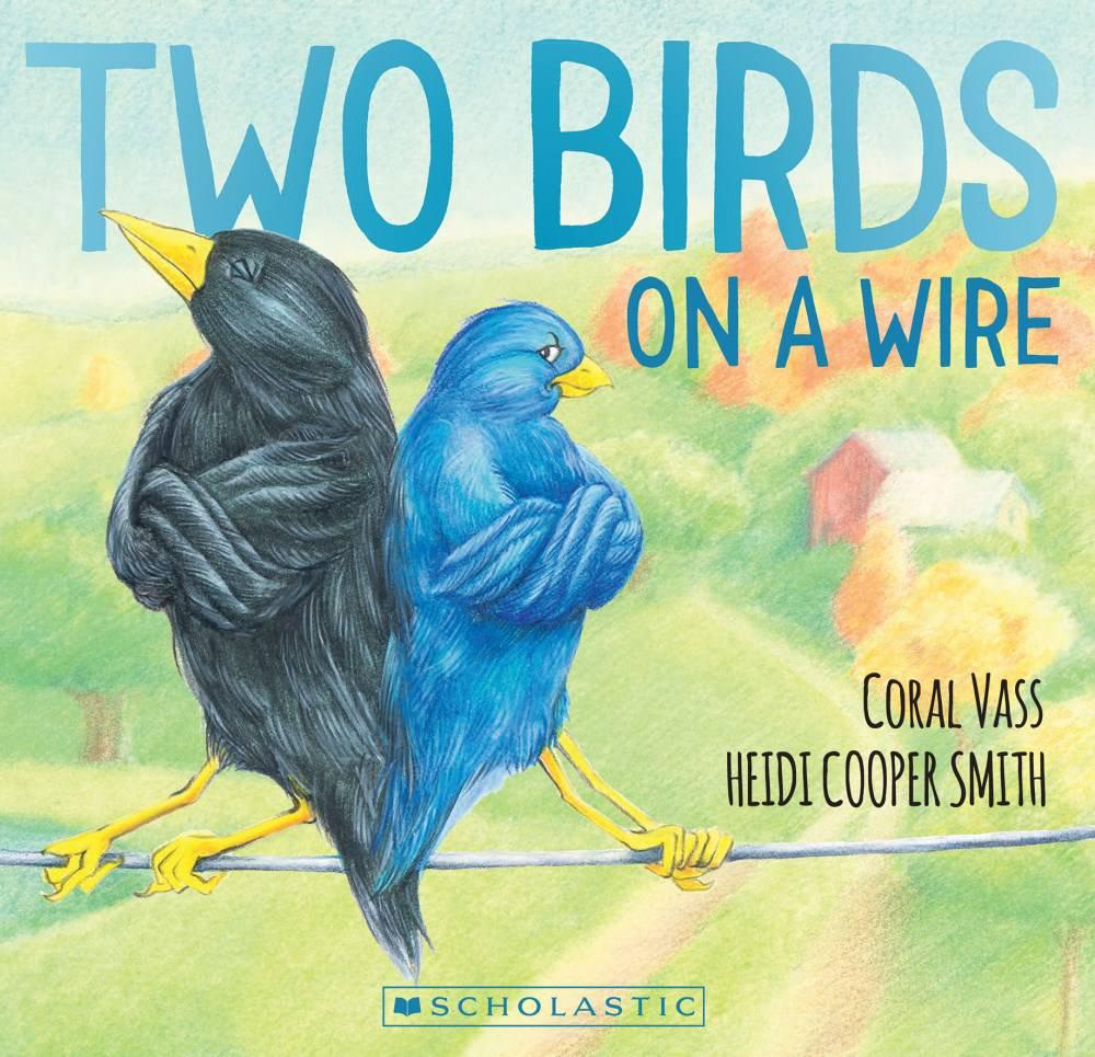 Two Birds on a Wire - By Coral Vass and Heidi Cooper SmithLittle Bird Blue and Little Bird Black refuse to share! Each wants to sit on the wire alone in this funny rhyming story.