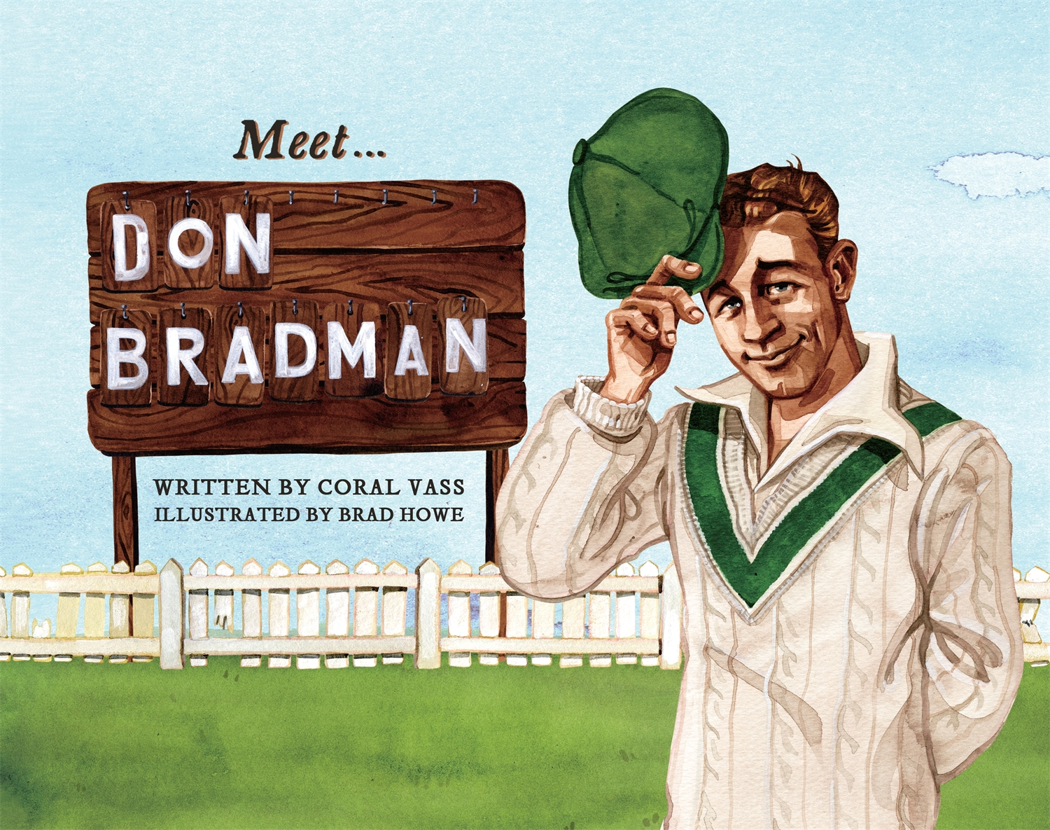 Meet...Don Bradman - By Coral Vass and Brad HoweA picture book series about the extraordinary men and women who have shaped Australia's history, including cricket's greatest ever batsman, Sir Donald Bradman.Don Bradman was Australia's greatest cricketer. This is the story of how he first came to play for Australia, and how his record-breaking feats in the Ashes series became a source of pride and hope during the hard years of the Great Depression.