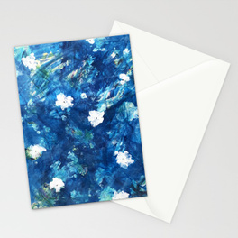 water lily stationary cards
