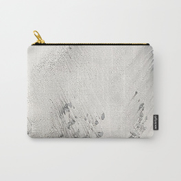 sandy beach grey cary-all pouch