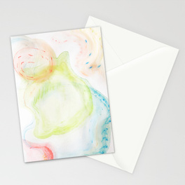 swirling bubbles stationary cards