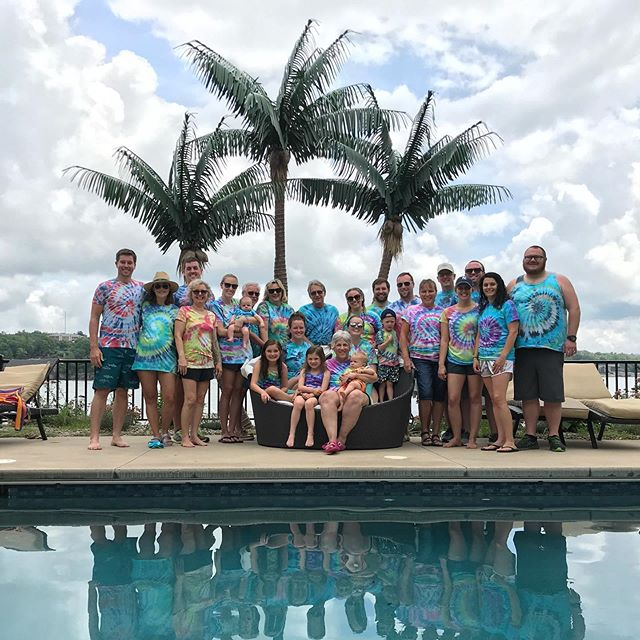 Celebrated Aunt Debbie in style this week complete with tie dye t-shirts and faux palm trees. 🌴😎