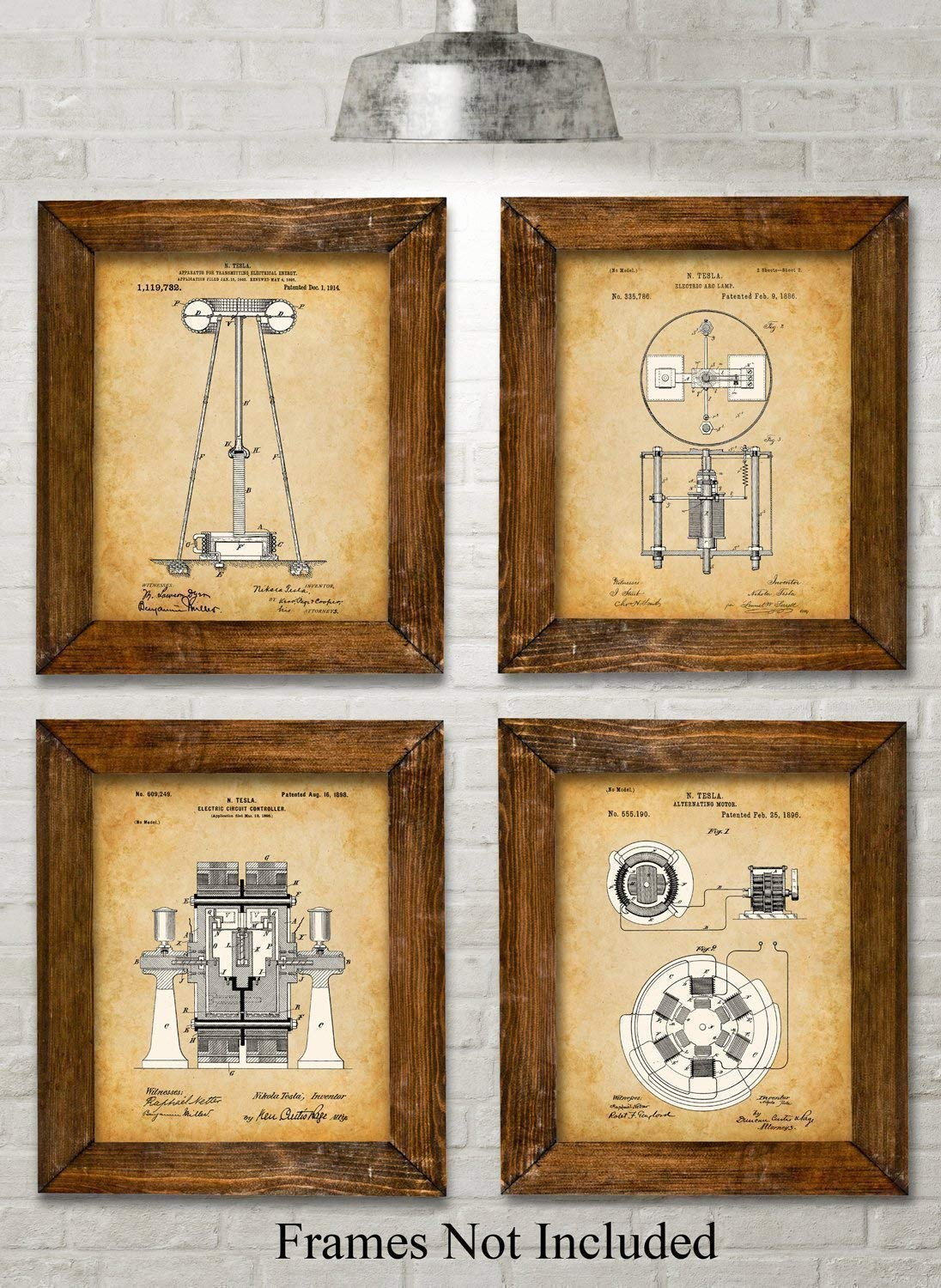 Tesla Patent Art Prints - Many IT Professionals are serious fans of the genius that was Nikola Tesla and would love some of his patents on the wall in their office.https://amzn.to/2SAuM3j