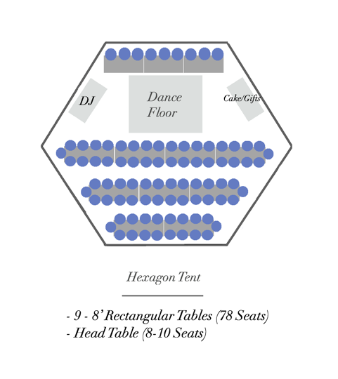 Hexagon with Rectangular Tables and Dance Floor - Horizontal.png
