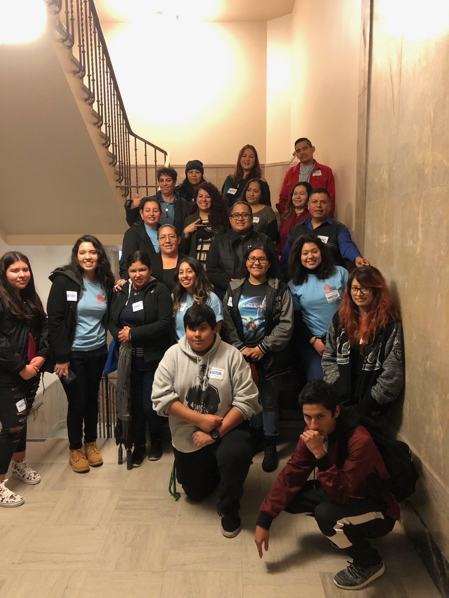 Eastside LEADS youth and parent leaders at LA City Hall on January 15, 2019.