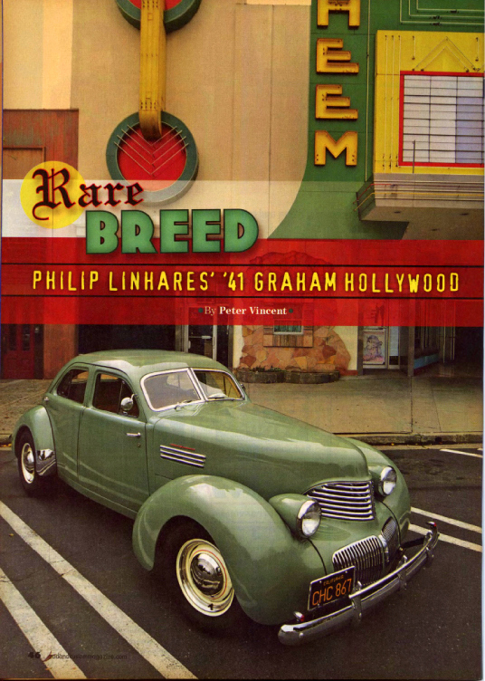 Rare Breed - Linhares 1941 Graham Hollywood - Photos by Peter Vincent