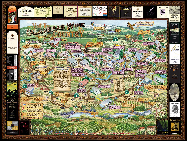 Calaveras Wine Map