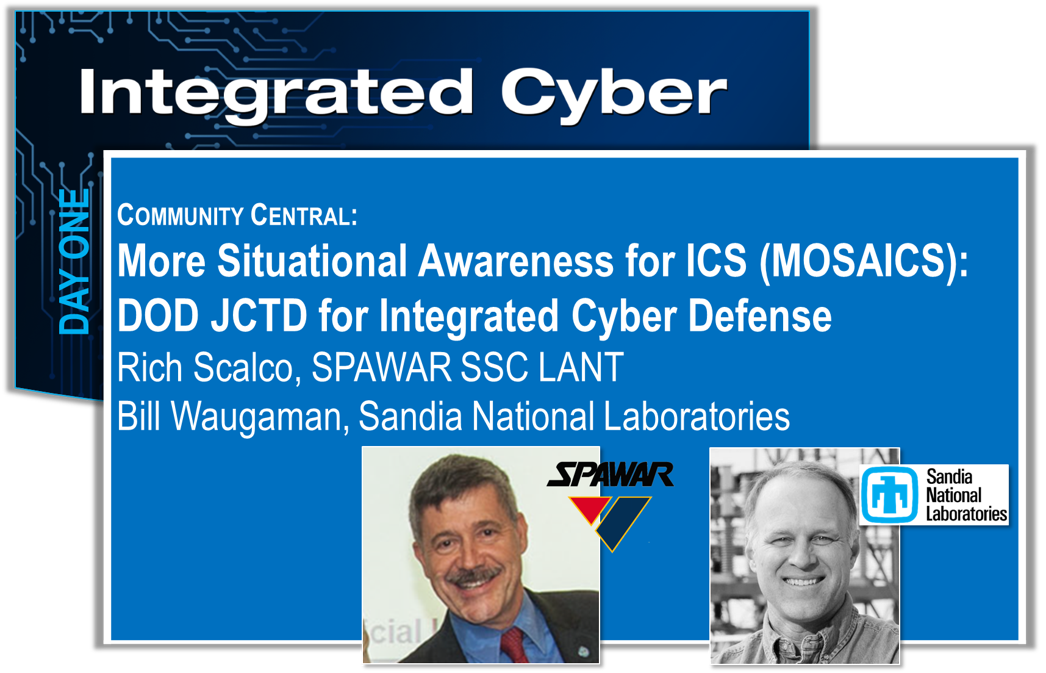 This session will discuss the current threat against Industrial Control Systems (ICS) and will provide an overview of the DoD's proposed MOSAICS concept demonstration. MOSAICS will leverage and integrate existing and developmental technologies from government labs, academia, and industry to provide robust situational awareness and defense of critical infrastructure. By extending advanced sensing and visualization solutions into ICS networks and even to some embedded systems, MOSAICS will provide the data feeds and situational awareness necessary to enable automated analysis, course of action development, and response actions required for timely defense of these critical systems.    View Slides