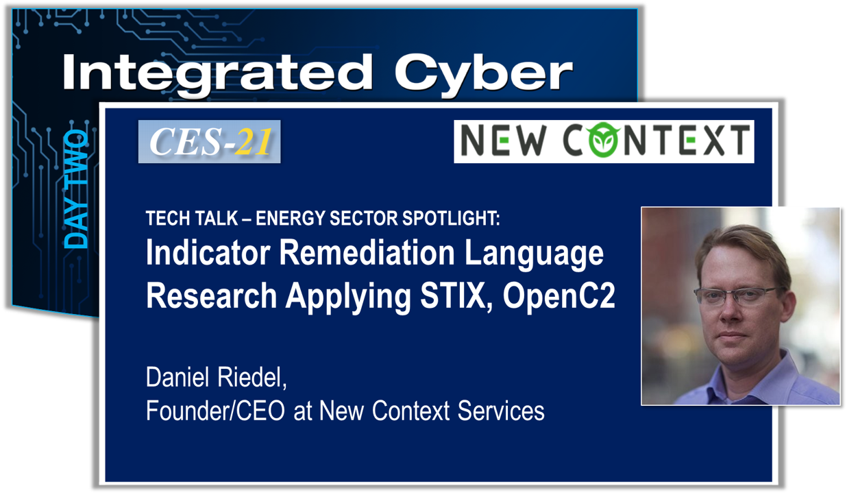 Automated remediation is a key technology for CES-21 research. New Context has led the research for the indicator remediation language using STIX. Standards like STIX, TAXII, and OpenC2 are examples that provide a foundation for infrastructure to perform machine speed threat detection, sharing, and response.   Due to the sensitivity of the content, this presentation cannot be posted.
