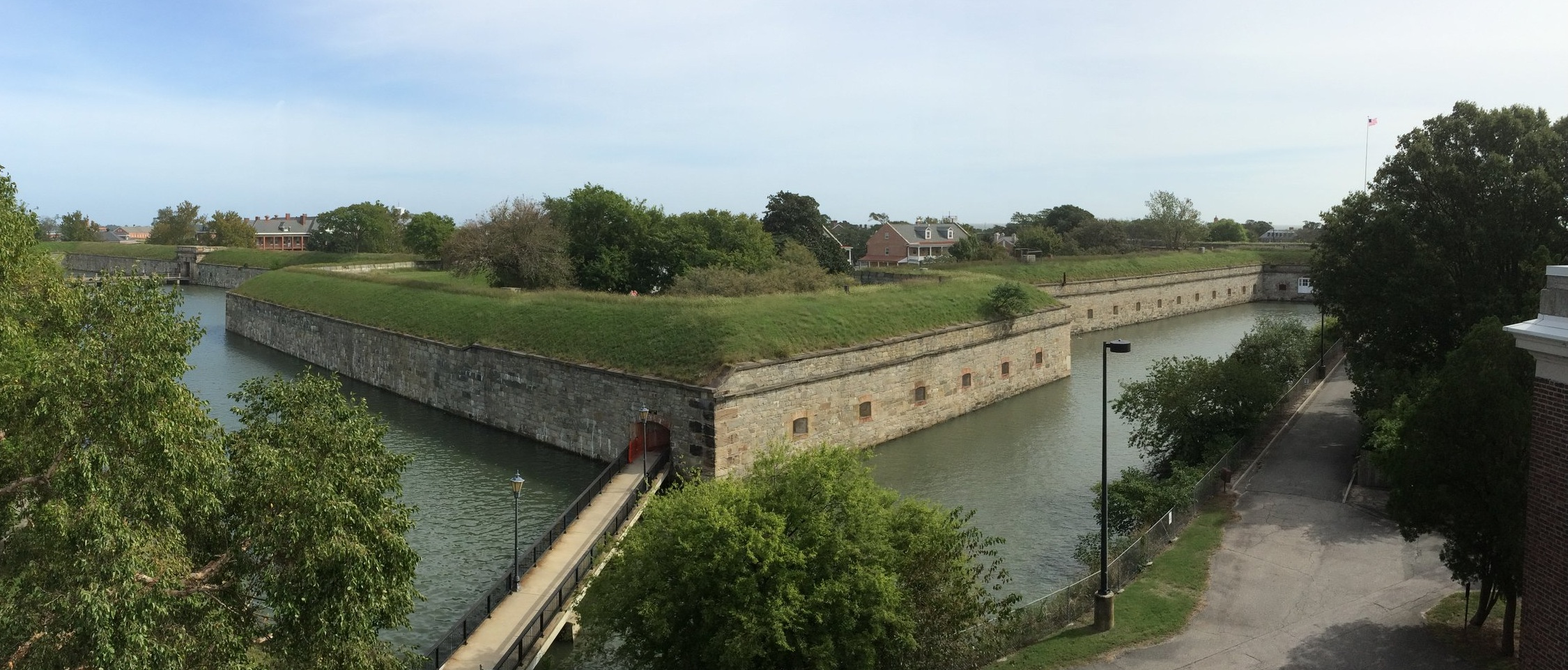 View of the Fort from roof of the new Visitor Center