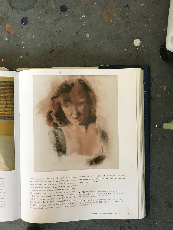 """Edwin Dickinson ptg from Robert Zeller's """"Figurative Artist's Handbook"""""""