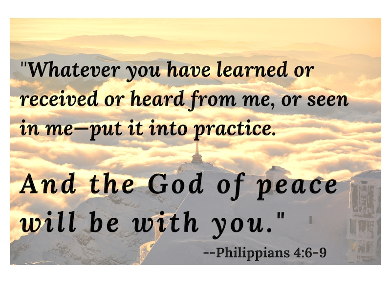 Do not be afraid to enter a new venture. Prepare by putting your learned skills to work, and pray to the God of Peace to guide you.  Philippians 4:6-9 .