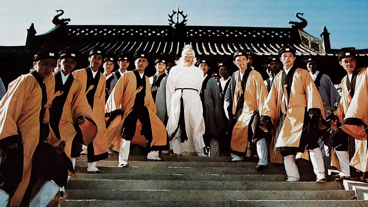 (Pictured in the center of the crowd: Pai Mei, Shaolin Executioner, as portrayed by Lo Lieh in one of several Shaw Bros. feature films featuring the character.)