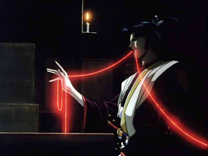 (Yurimaru from the classic 90s anime Ninja Scroll, whose appearance, fighting style, sadism, and sexuality are clearly heavily influenced by Bubai.)