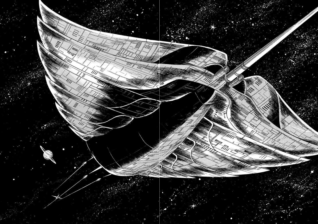 """""""Not a star destroyer attacking not a rebel ship"""" [Image from """"The Starbow"""" manga]"""