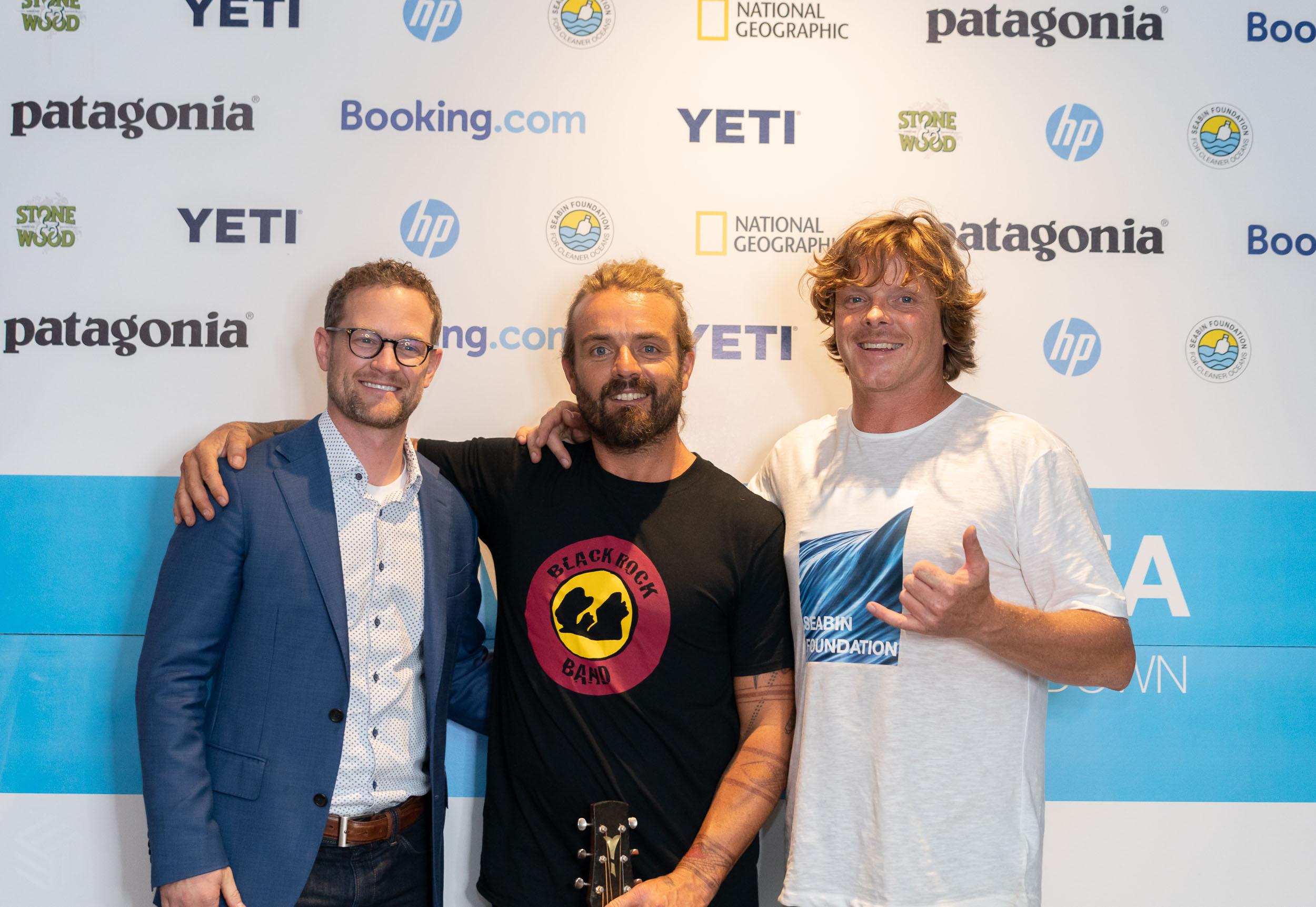 Dan Henry, (Director of marketing at hewlett packard) Xavier Rudd, Pete Ceglinski (Seabin Project)