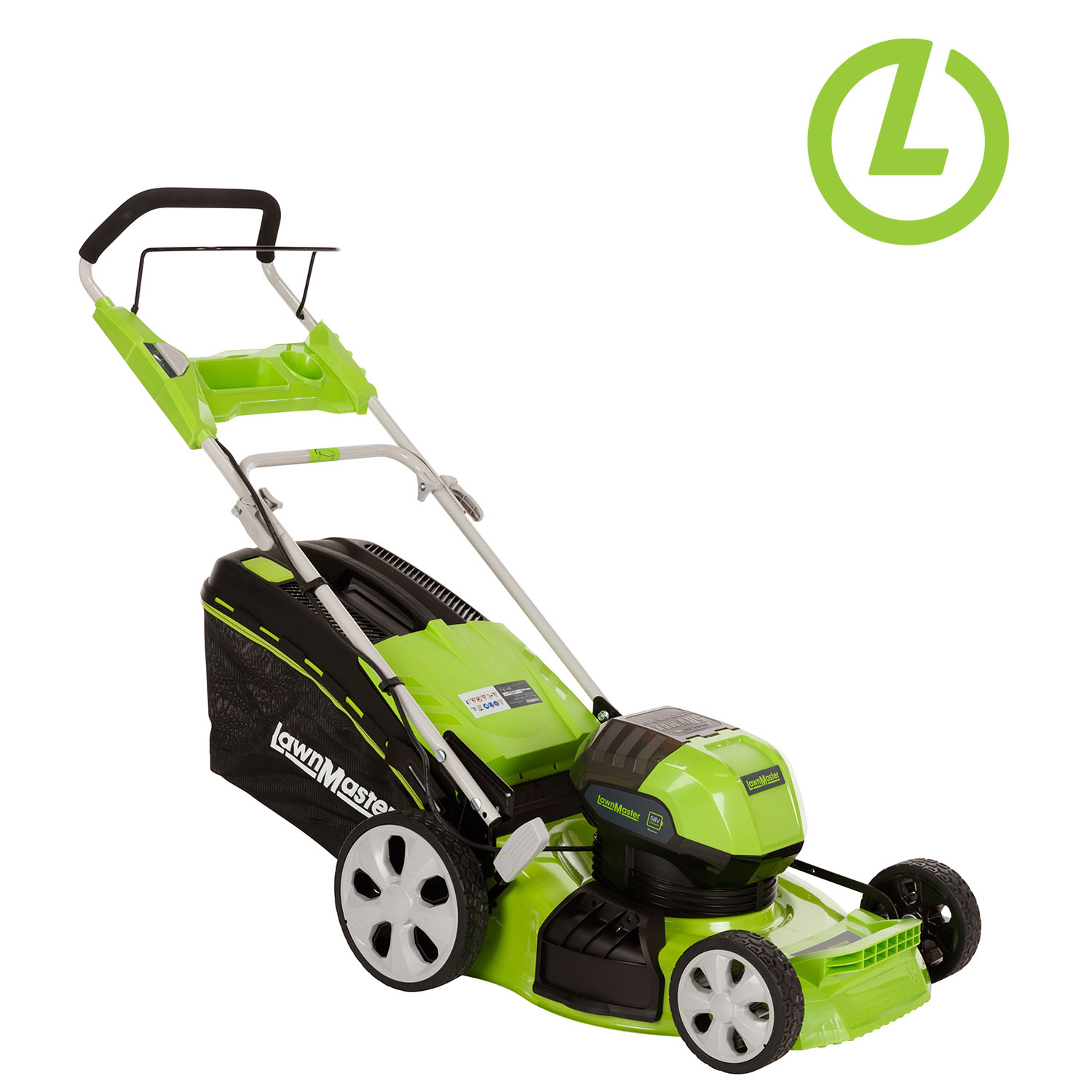 Lawnmaster Battery Mowers - Lithium - Ion battery mowers require no petrol or oil. They are lighter than conventional mowers and now have a mow time of around 40 minutes
