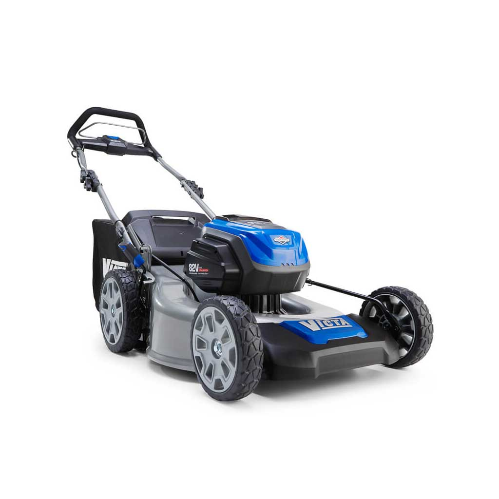 Victa Battery Mowers - Lithium - Ion battery mowers require no petrol or oil. They are lighter than conventional mowers and now have a mow time of around 40 minutes