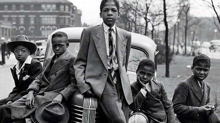 Negro boys on Easter morning. Southside, Chicago, Illinois. 1941