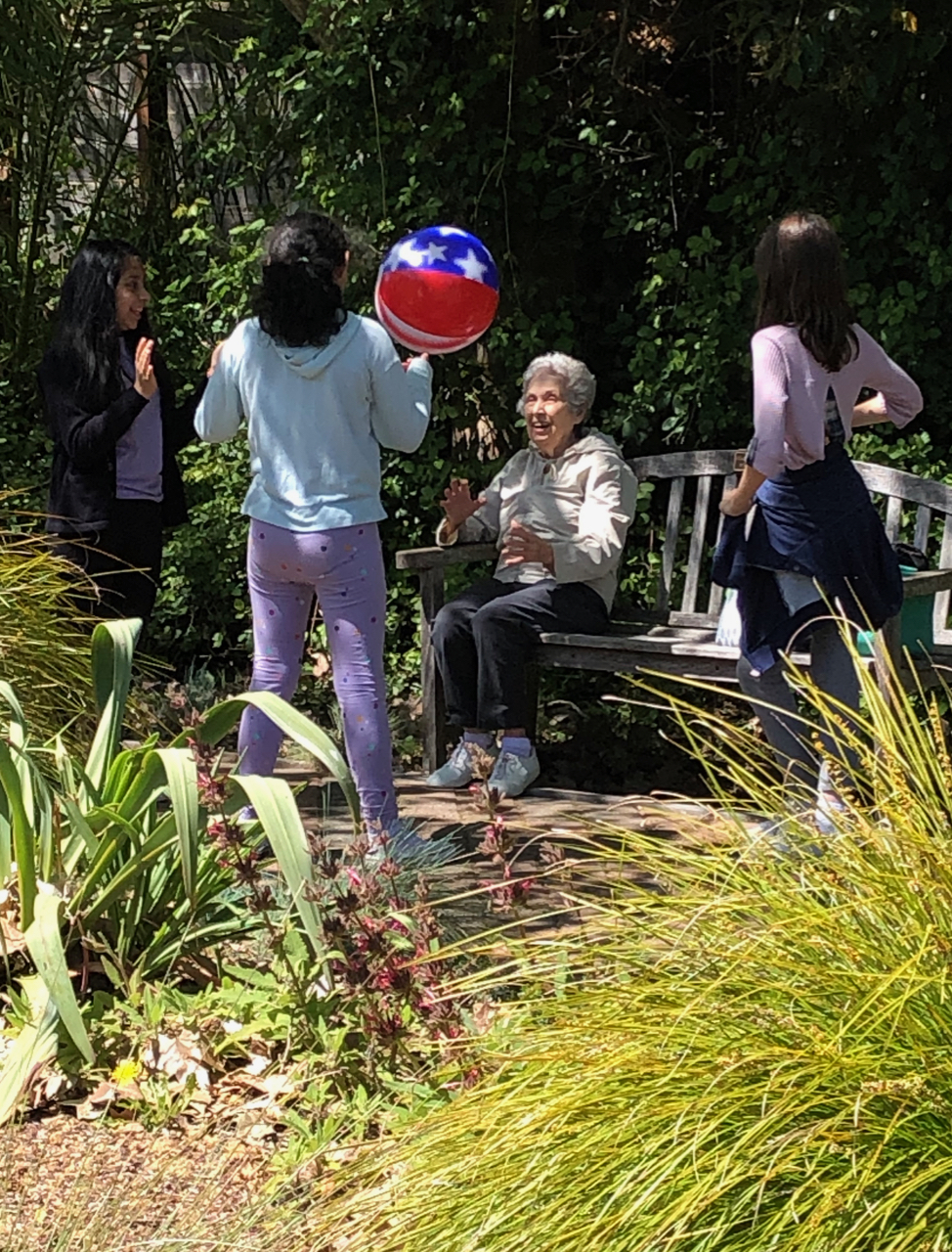 In the great outdoors - Students from Saint Raphael's had lunch and played games in the park with their Buddies from WindChime, thanks to a grant from Marin County Parks Department. Being outdoors is rejuvenating for everyone and sharing a meal is a great way to connect.