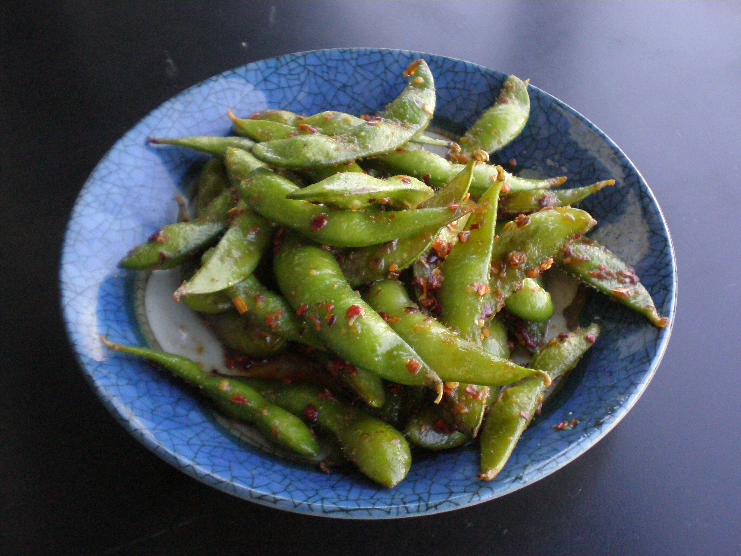Edamame with Chile Flakes