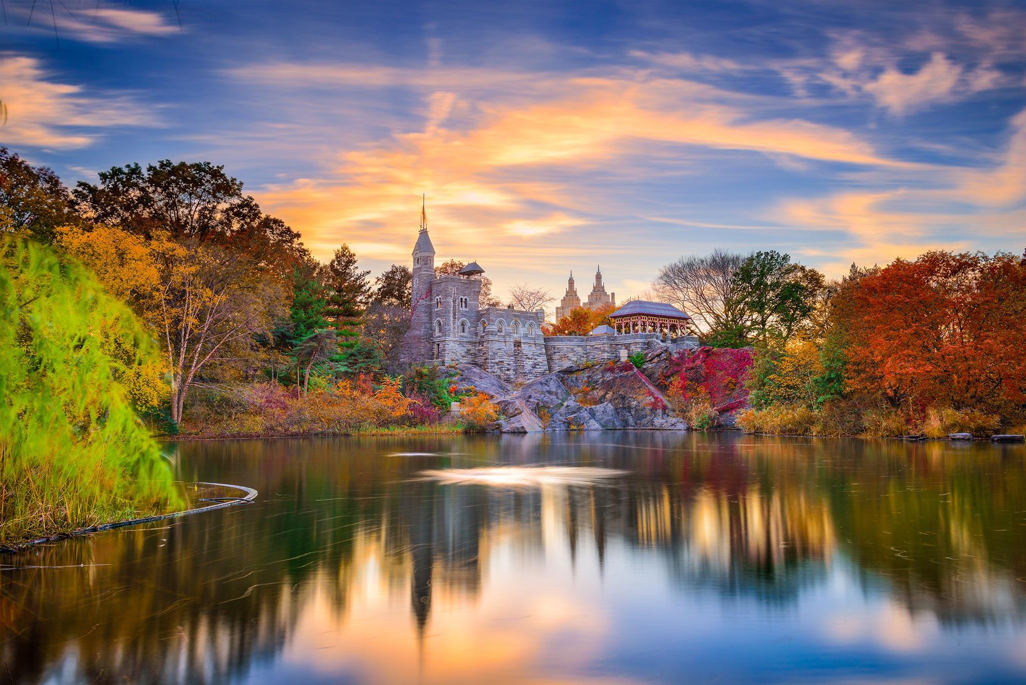 Belvedere Castle in Central Park, New York.