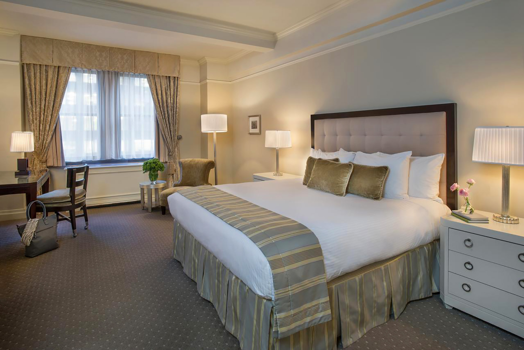 One of the Premier Plus rooms at the Warwick New York.